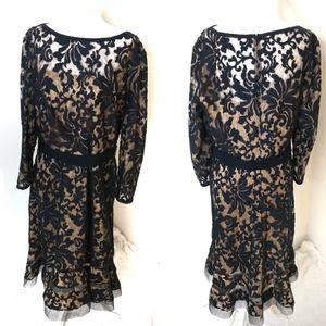 Tadashi Shoji Navy Blue Lace dress size 16